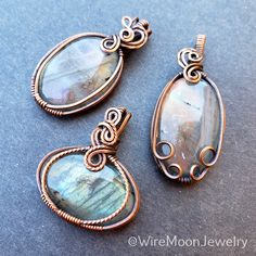 A big thank you for everyone's support for my labradorite update! I appreciate every single one of you. 💜  If you missed out, don't worry! There are still plenty of labradorite goodies in my store. Check them out! www.wiremoonjewelry.etsy.com Michelle Lee, Moon Jewelry, Handmade Copper, Wire Wrapped Jewelry, Labradorite, Natural Stones, Jewelry Making, Charmed, Pendants