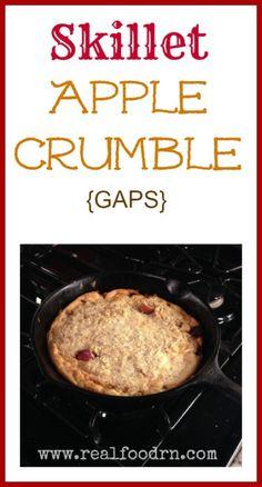 Skillet Apple Crumble (gluten-free, dairy-free, sugar-free) - great for breakfast!