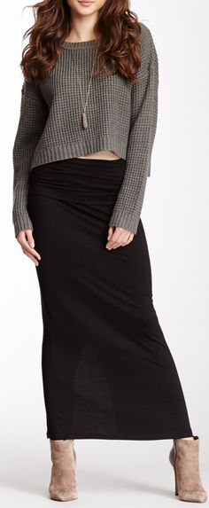 maxi + slouch sweater... I like this look, i think ima make it work