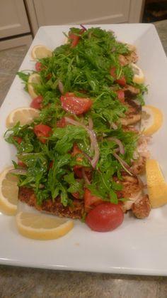 Chicken Milanese with Arugula Salad