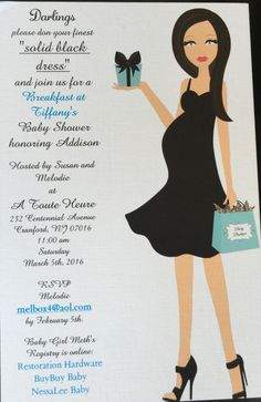 Breakfast At Tiffany's Baby Shower invitation Clipart from Esty: https://www.etsy.com/listing/198940477/similar?ex=etsy_finds&ref=etsy_finds&utm_source=adhoc&utm_medium=email&utm_campaign=new_at_etsy_010816_37775845572_0_4-0&campaign_label=new_at_etsy&euid=oz1Zy-0GELQLX_MMrinLEKWDSWH8&eaid=15929603350&redirect=1  Printing: Vista Print