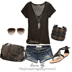 LOLO Moda: Stylish summer fashion with longer shorts of course! exept the shoes Cute Summer Outfits, Summer Wear, Spring Summer Fashion, Summer Time, Summer Days, Outfit Summer, Style Summer, Summer Chic, Summer Shorts