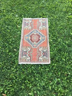 "Small Size Stunning Oushak Rug,Handmade Bathroom Rug,Front Door Mat 1'7""x3' | Antiques, Rugs & Carpets | eBay!"