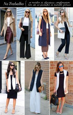 Image Consulting: Inspiration of looks with maxi vests at work - Office Outfits Cool Outfits, Summer Outfits, Casual Outfits, Fashion Outfits, Womens Fashion, Fashion Trends, Long Vest Outfit, Blazer Outfits, Work Fashion