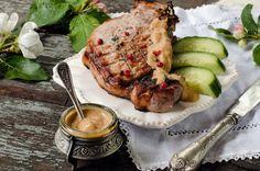 Cotlete de porc cu mere caramelizate Elizabeth Taylor, Meat, Pork