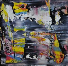 Abstract painting by Jakob Weissberg, 2014, oil on wood panel
