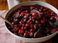 Bobby Flay's Cranberry Sauce with Pinot and Figs