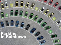henrik amberla: 'parking in rainbows' think outside the parking box competition shortlisted revealed - designboom | architecture