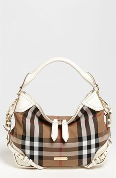 Burberry House Check - Small Hobo | Nordstrom