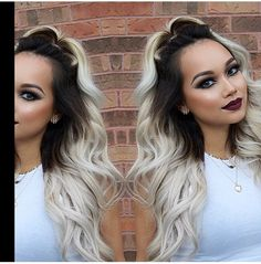 This is the exact color ombre I would want, Dark to silver blonde! So pretty!