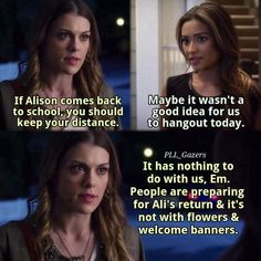 Watch Pretty Little Liars, Pretty Little Liars Quotes, Pretty Litte Liars, Pll Quotes, Emily Fields, Teen Shows, Never Trust, Shay Mitchell, Best Shows Ever
