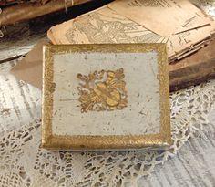 Vintage Italian Florentine Wood Trinket Box by AloofNewfWhimsy, $24.00