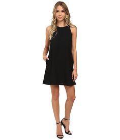 Brigitte Bailey Crepe Tank A-Line w/ Pockets Dress Black - Zappos.com Free Shipping BOTH Ways