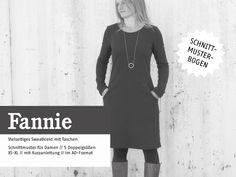 Schnittmuster+FrauFannie+Kleid+Sweatkleid+van+Nähhimmel+op+DaWanda.com