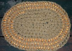 Rags to Rugs - Recycling Clothes into Carpets: Hand Crochet Rope Mat with Rope Lights
