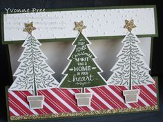 Peaceful Pines, Perfect Pines framelits, Stampin' Up!, Yvonne Pree, 2015 Holiday Catalogue, Christmas 2015