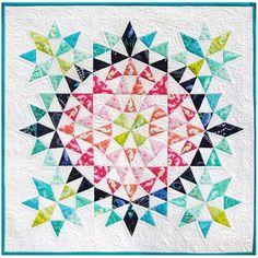 Kaleidoscope Mini Quilt by Debbi Groskopf, seen at Robert Kaufman Fabrics.
