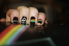 Pink Floyd Nails...this will be my next design, they're pretty cool