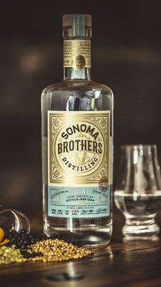 In 2012, brothers Chris and Brandon Matthies launched Sonoma Brothers  Distilling, an artisan distillery that focuses on crafting handmade spirits  and liquors in small batches. They encountered some early success, but  recently turned to CF Napa Brand Design to redesign the packaging to better  communicate the brand story and quality of craftsmanship in each bottle.