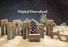 Wooden Nativity Block Pattern Children's Christmas Blocks.   Nativity Set, #Christmas, #ChristmasNativity