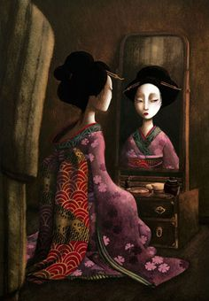 çizgili masallar: The Butterfly Lovers by Benjamin Lacombe Art Geisha, Geisha Kunst, Portfolio Illustration, Children's Book Illustration, Alberto Giacometti, Album Jeunesse, Atelier D Art, Pop Surrealism, Fan Art