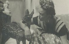 Since she could not be a mother, Frida Kahlo lavished the attention on her pets, including dogs, cats, monkeys and birds. Here, legendary Hungarian photographer Nickolas Muray captured this tender moment between the artist and her beloved pet deer in 1939.