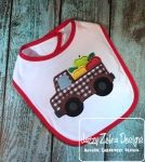 Truck with Apples Appliqué Embroidery Design