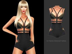 As costume daily bodysuit for elegant sims.  Found in TSR Category 'Sims 4 Female Everyday'
