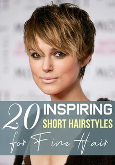 If you have short thin hair, you know that getting volume that looks natural is difficult. Too many layers will actually make the hair appear thinner, so keep the layers long and minimal. Haircuts For Thin Fine Hair, Long Fine Hair, Thin Hair Cuts, Short Hairstyles Fine, Haircut For Older Women, Short Hair With Layers, Short Hair Cuts For Women, Cool Haircuts, Short Hairstyles For Women
