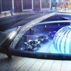 Futuristic Underwater Discus Hotel in Dubai Dubai Hotel, Hotel Subaquático, Best Resorts, Hotels And Resorts, Luxury Hotels, Underwater Hotel, Unusual Hotels, Future Buildings, Hotel Concept