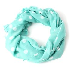Mint with White Dots | Maria Scarf ;oveee scarfs soo happy they r in style they spice up outfits soo nicely