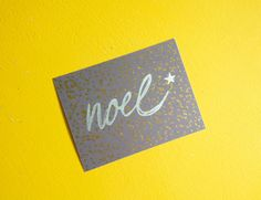 Noel by CardLove1 on Etsy, $3.00. Hand drawn one-sided postcard