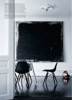 Black painting with white edge interior design 2012 interior design Interior Design Inspiration, Painting Inspiration, White Art, Black And White, Art Moderne, Interior Exterior, Contemporary Art, Modern Art, Abstract Art