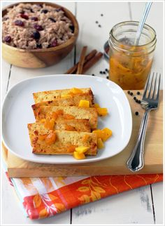 Mango chutney on tofu with cranberry basmati rice.  Would love to try this.
