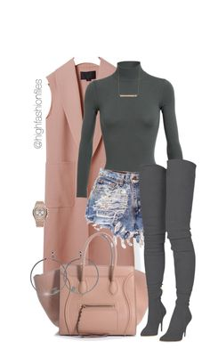 A fashion look from March 2017 by highfashionfiles featuring Alexander Wang, Alaïa, Balmain, Audemars Piguet, Monique Péan and Chanel Komplette Outfits, Classy Outfits, Stylish Outfits, Fashion Outfits, Womens Fashion, Fashion Trends, Skirt Outfits, Grunge Outfits, Fashion Weeks