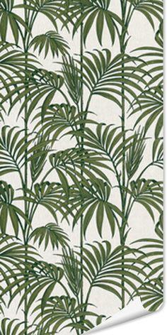 Intissé HONOLULU coloris vert feuille