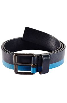 Striped Leather Belt - Accessories - Mens - Armani Exchange