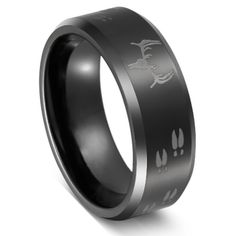 Three Keys Tungsten Ring Black Beveled Edge Skull Deer Antlers Track Men's Hunting Ring Wedding Ring Engagement Band Outdoor Jewelry Size 13 Skull Wedding Ring, Skull Engagement Ring, Wedding Ring Bands, Wedding Engagement, Deer Wedding, Blue Wedding, Country Engagement, Trendy Wedding, Rustic Wedding