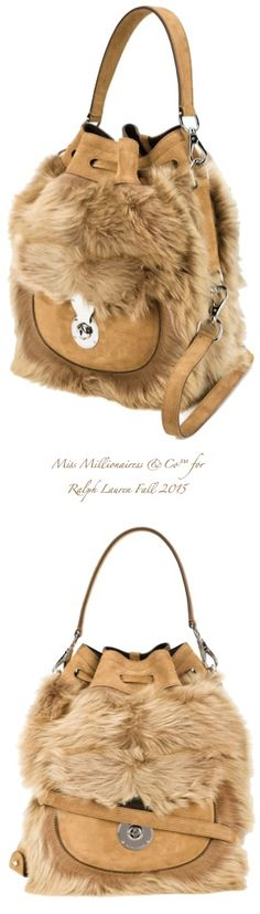 Ralph Lauren 'Ricky' Fall 2015 Shearling Tote Bag - Miss Millionairess&Co™