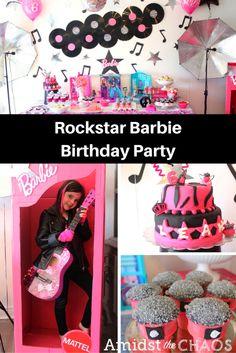 Rockstar Barbie Birthday Party - Amidst the Chaos
