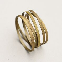 WSAKE Ribbon Bracelet-handmade of vintage brass material from the 1900 with a most lovely ribbon structure