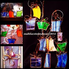 My 2014 Stained Glass Ornaments. I'm so excited to be selling these at my first craft show on Dec. 14th! Yeah!