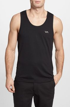 0e81ad5a24434 Men s RVCA  Virus - Performance Series  Fitted Moisture Wicking Tank Top  Tank Tops