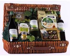 christmas wine baskets - Google Search