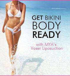 Get Bikini Body Ready with MYA's Vaser Liposuction! #Vaser #VaserLiposuction #Liposuction #MYA #CosmeticSurgery #Surgery #BikiniBodyReady #Bikini #Body #Beach #Summer #Sun #BikiniBody