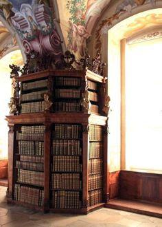 Library, Heiligenkreuz Abbey, Cistercian monastery in the village of Heiligenkreuz in the southern part of the Vienna woods, Austria