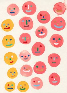 Design and Illustration of Hiller Goodspeed Face Illustration, Simple Illustration, Mellow Yellow, Wall Collage, Oeuvre D'art, Art Inspo, Cool Art, Print Patterns, Art Photography