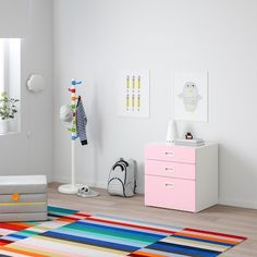 schubladenschrank rosa - Suchen - IKEA Low Chest Of Drawers, Small Drawers, Childrens Storage Units, Ikea Stuva, Recycling, Painted Drawers, Pink Kids, Arts And Crafts Projects, Drawer Fronts