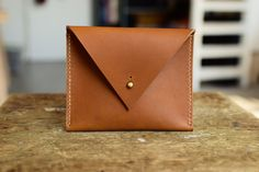 Your place to buy and sell all things handmade Natural Leather, Different Colors, Triangle, Coins, Coin Purse, Buy And Sell, Brass, Purses, Handmade