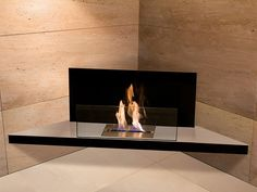 Biokominek Radius Corner Flame inox | sklep PrezentBox - akcesoria, zegary ścienne, prezenty